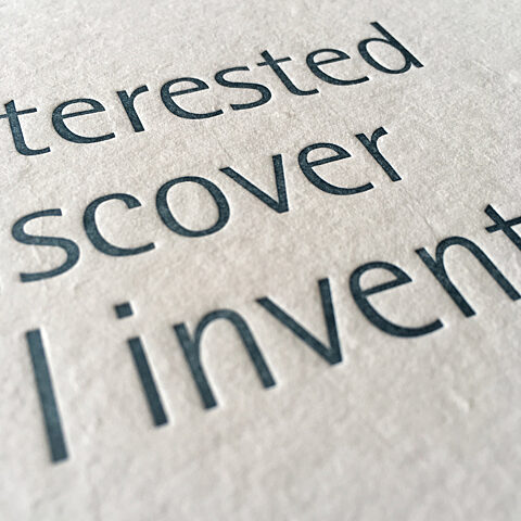 Bulthaup event detail letterpress
