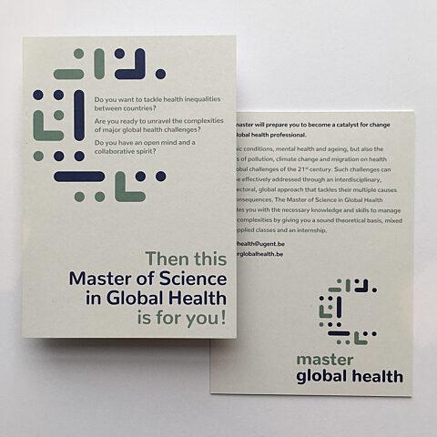 Master global health postkaart vooraan achteraan
