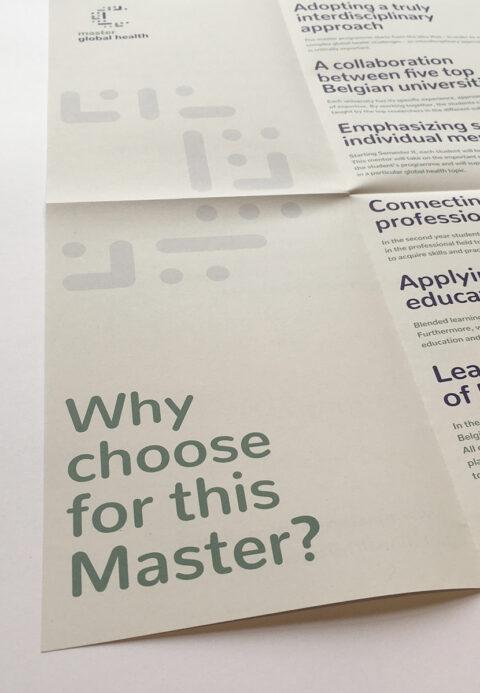 Master global health poster opengevouwen