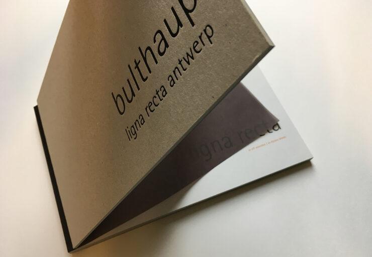 Bulthaup lignarecta brochure kaft open