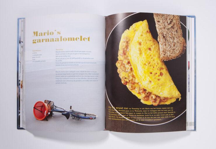 Garnalen gerecht omelet
